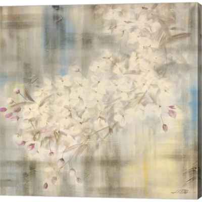 Metaverse Art White Cherry Blossom IV Gallery Wrapped Canvas Wall Art