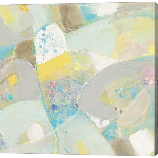 Metaverse Art White Rock Ii Gallery Wrapped Canvaswall Art