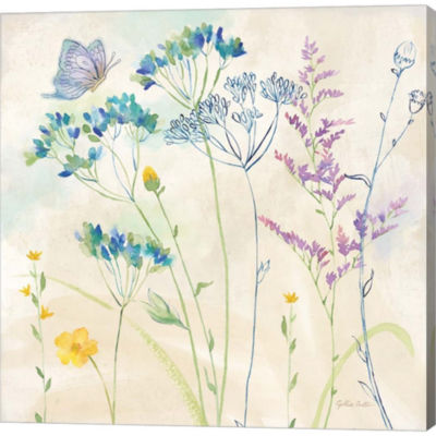 Metaverse Art Wildflower Garden II Gallery WrappedCanvas Wall Art