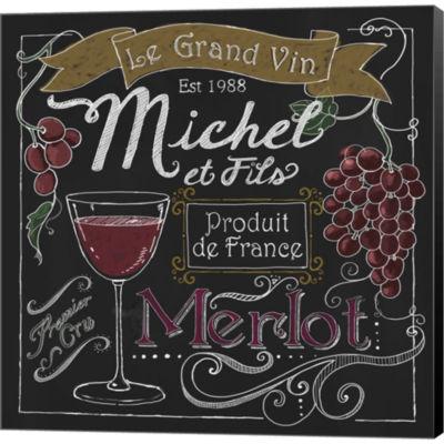 Wine Chalkboard I Gallery Wrapped Canvas Wall ArtOn Deep Stretch Bars