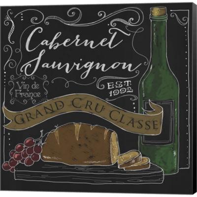 Metaverse Art Wine Chalkboard II Gallery Wrapped Canvas Wall Art