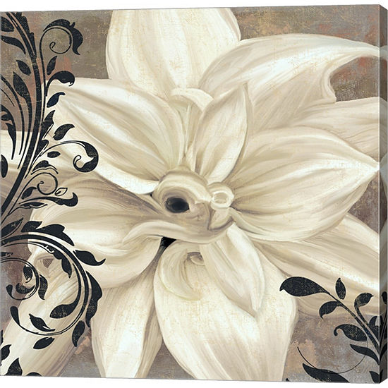 Metaverse Art Winter White II Gallery Wrapped Canvas Wall Art