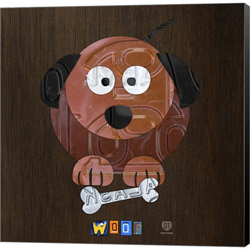 Woof The Dog Gallery Wrapped Canvas Wall Art On Deep Stretch Bars