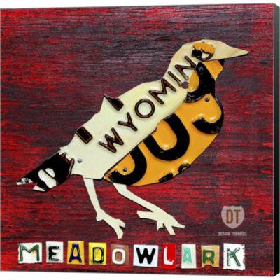 Metaverse Art Wyoming Meadowlark Gallery Wrapped Canvas Wall Art