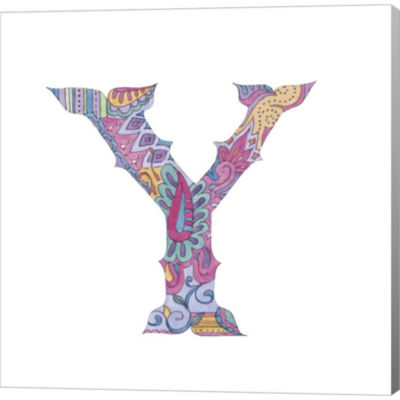 Metaverse Art The Letter Y Gallery Wrapped CanvasWall Art