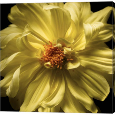 Metaverse Art Yellow Delight Gallery Wrapped Canvas Wall Art