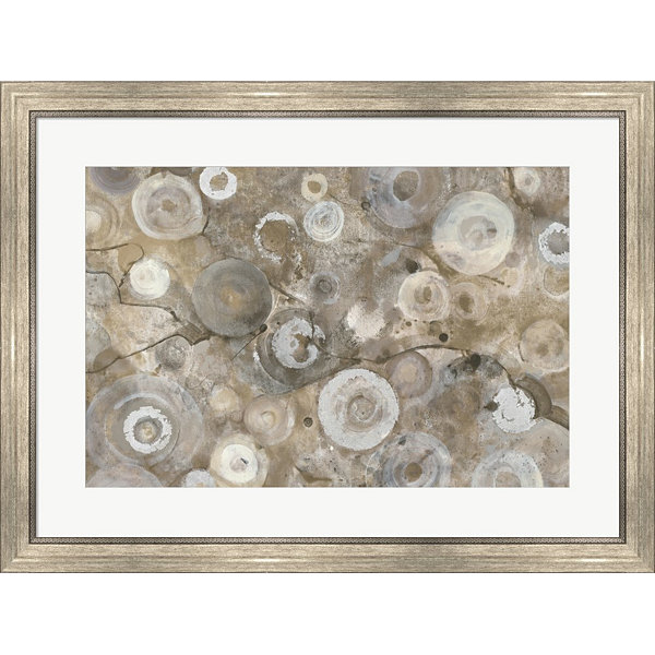 Metaverse Art Neutral Agate Framed Print Wall Art
