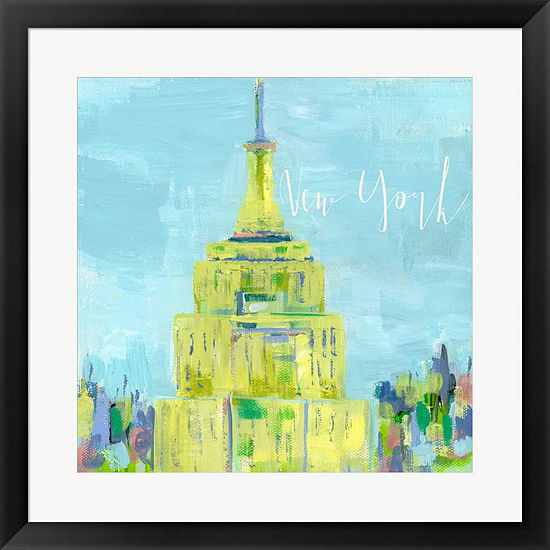 Metaverse Art New York City Framed Print Wall Art