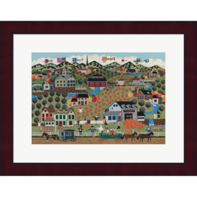 Metaverse Art Noah's Pumpkin Farm Framed Print Wall Art