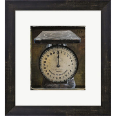 Metaverse Art Nostalgica: Vintage Scale Framed Print Wall Art