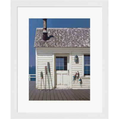 Metaverse Art Oars And Buoys Framed Print Wall Art