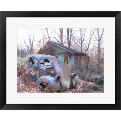 Metaverse Art Old Cabin In Georgia Framed Print Wall Art