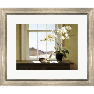 Metaverse Art Orchids In The Window 2 Framed PrintWall Art