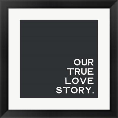 Metaverse Art Our True Love Story Framed Print Wall Art