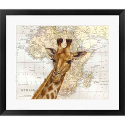 Metaverse Art Out Of Africa Framed Print Wall Art