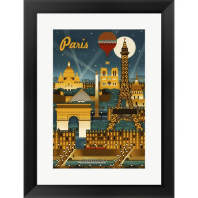 Metaverse Art Paris Evening And Balloon Framed Print Wall Art
