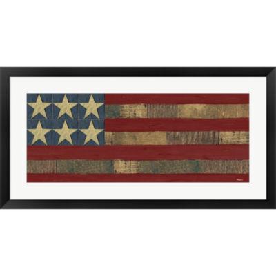 Metaverse Art Patriotic Printer Block Panel I Framed Print Wall Art