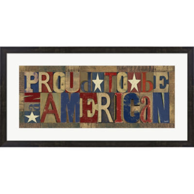 Metaverse Art Patriotic Printer Block Panel II Framed Print Wall Art