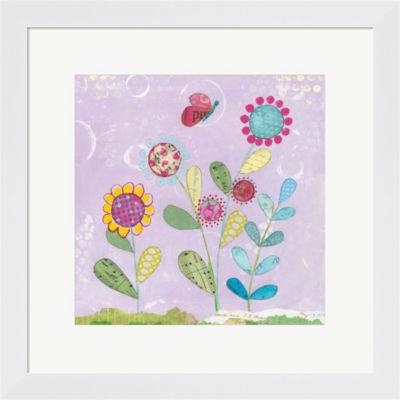 Metaverse Art Pattys Garden I Framed Print Wall Art