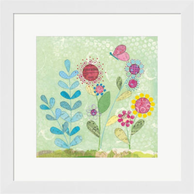 Metaverse Art Pattys Garden II Framed Print Wall Art