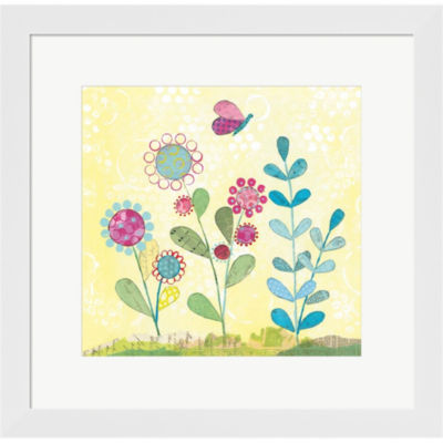 Metaverse Art Pattys Garden III Framed Print WallArt
