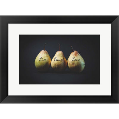 Metaverse Art Pears - Live Laugh Love Framed PrintWall Art