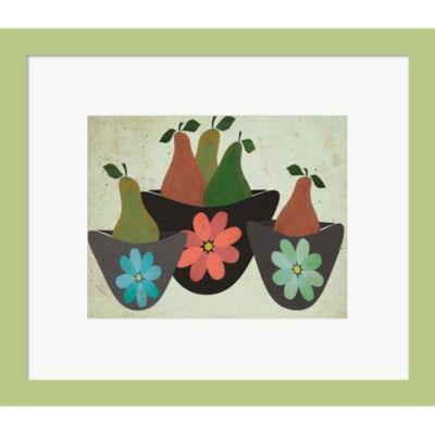 Metaverse Art Pears & Bowls Framed Print Wall Art