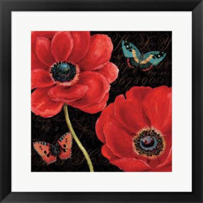 Metaverse Art Petals And Wings II Framed Print Wall Art