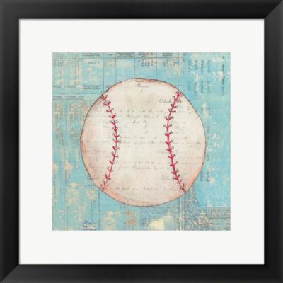 Metaverse Art Play Ball I Framed Print Wall Art