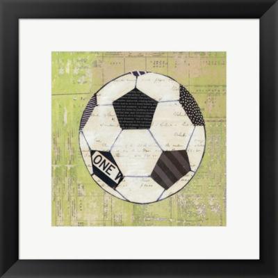 Metaverse Art Play Ball III Framed Print Wall Art