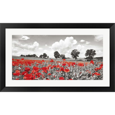 Metaverse Art Poppies And Vicias In Meadow GermanyFramed PrintWall Art