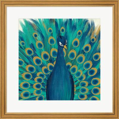 Metaverse Art Proud As A Peacock I Framed Print Wall Art