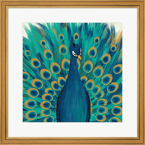 Proud As A Peacock I Framed Print Wall Art