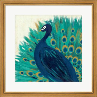 Metaverse Art Proud As A Peacock II Framed Print Wall Art