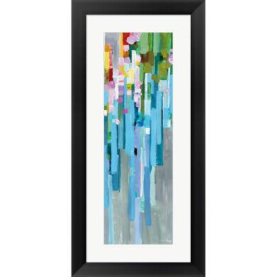 Metaverse Art Rainbow Of Stripes II Framed Print Wall Art