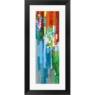 Metaverse Art Rainbow Of Stripes III Framed PrintWall Art