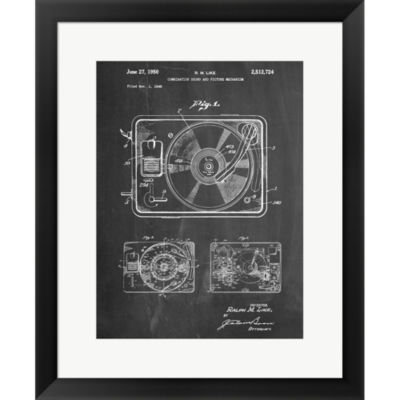 Record Player Framed Print Wall Art