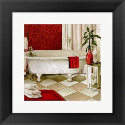 Metaverse Art Red Bain I Framed Print Wall Art