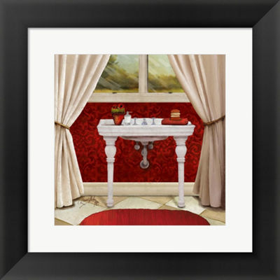 Metaverse Art Red Bain II Framed Print Wall Art