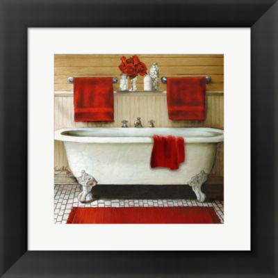 Metaverse Art Red Bain III Framed Print Wall Art
