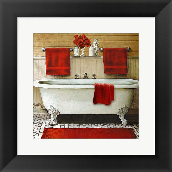 Metaverse Art Red Bain III Framed Print Wall Art