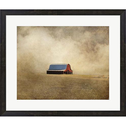 Red Barn In Missouri Framed Print Wall Art