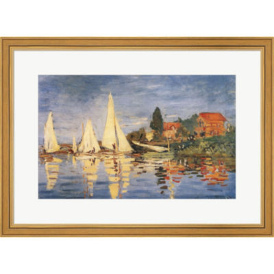 Metaverse Art Regatta At Argenteuil Framed Print Wall Art