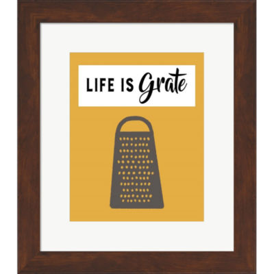 Metaverse Art Retro Kitchen I Life Is Grate FramedPrint Wall Art