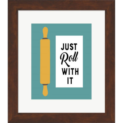 Metaverse Art Retro Kitchen III - Just Roll With It Framed Print Wall Art