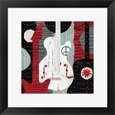 Metaverse Art Rock 'N Roll Guitars Framed Print Wall Art