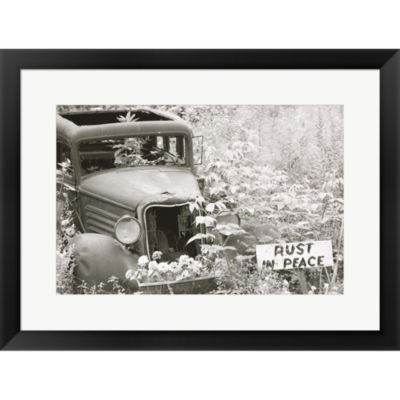 Rust In Peace Framed Print Wall Art