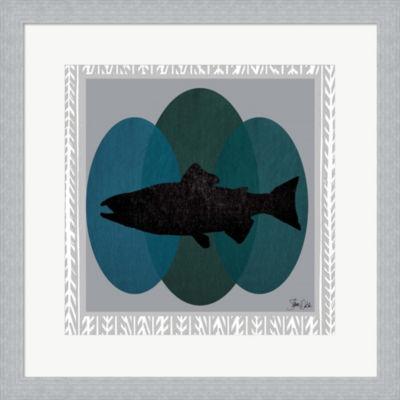 Metaverse Art Salmon Framed Print Wall Art