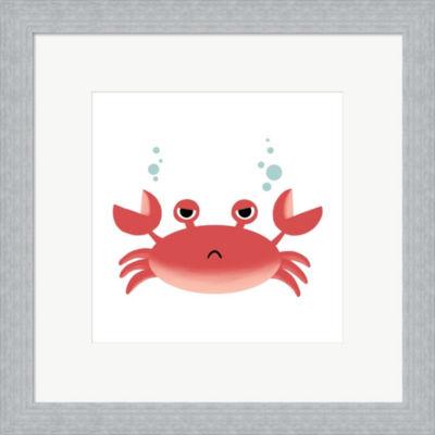 Metaverse Art Sea Creatures - Crab Framed Print Wall Art
