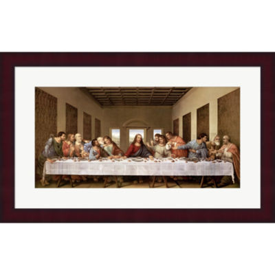 Metaverse Art The Last Supper Framed Print Wall Art